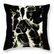 Neonganpati Throw Pillow