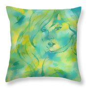 Nerissa  Daughter Of The Sea Throw Pillow