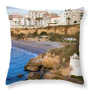 Nerja Town On Costa Del Sol Throw Pillow