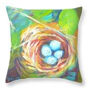 Nest Of Prosperity 1 Throw Pillow