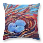 Nest Of Prosperity 3 Throw Pillow