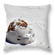 Nesting Mud Bubbles In Yellowstone's Artist Paint Pots Throw Pillow by Bruce Gourley