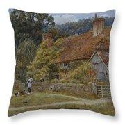 Netley Farm Shere Surrey Throw Pillow