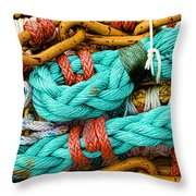 Nets And Knots Number Four Throw Pillow by Elena Nosyreva