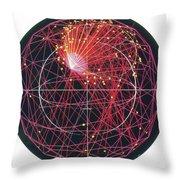 Neutrino Tracks Throw Pillow