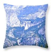 Nevada And Vernal Falls Throw Pillow
