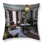 Nevada City Hotel Parlor - Montana Throw Pillow