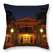 Nevada Governors Haunted Halloween Mansion Throw Pillow