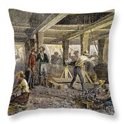 Nevada Silver Mine, C1880 Throw Pillow