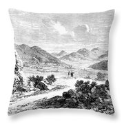 Nevada: Washoe Region, 1862 Throw Pillow