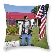 Never Forget 9 - 11 Throw Pillow by Thomas R Fletcher