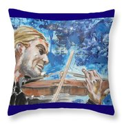 Never Forget The Sound Of Violin Throw Pillow