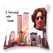 Never Lost Throw Pillow