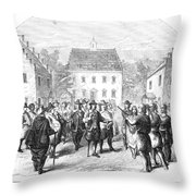 New Amsterdam, 1660 Throw Pillow
