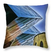 New And Old Building Throw Pillow