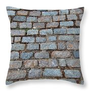 New Bedford Mass Brick Street 2006 Throw Pillow