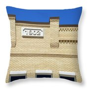New Building Looking Old Throw Pillow