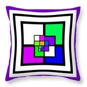 New Color Way Throw Pillow