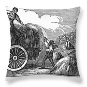 New England: Harvest, 1830 Throw Pillow