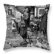 New England: Quaker, 1660 Throw Pillow