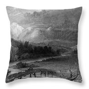 New Hampshire, 1838 Throw Pillow