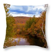 New Hampshire Fall Color Part Three Throw Pillow