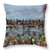 New Hampshire In The Fall Throw Pillow