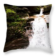 New Hampshire Waterfall Throw Pillow