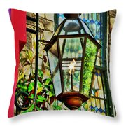 New Hope Gas Street Light Digital Painting Throw Pillow