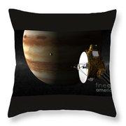 New Horizons Flies By Jupiter Throw Pillow