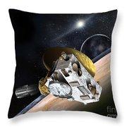 New Horizons Spacecraft At Pluto Throw Pillow