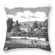New Jersey Farm, C1810 Throw Pillow