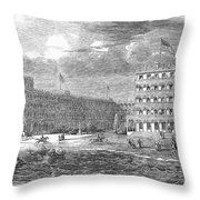 New Jersey Hotel, 1853 Throw Pillow