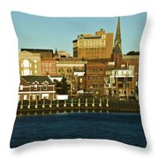 New London Waterfront Throw Pillow