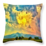 New Mexico Dawn Throw Pillow