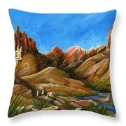 New Mexico Highlands In Spring Throw Pillow