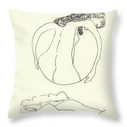 New Mexico Moon 3 Throw Pillow