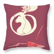 New Mexico Moon Rose Throw Pillow