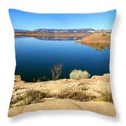 New Mexico Series - Abiquiu Lake Throw Pillow