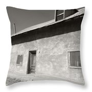 New Mexico Series - Adobe House In Truchas Throw Pillow
