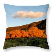 New Mexico Series - Cloud Over Autumn Throw Pillow