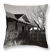 New Mexico Series - Fenced In House Throw Pillow