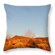 New Mexico Series - Moonrise Autumn Throw Pillow
