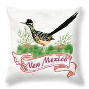 New Mexico State Bird The Greater Roadrunner Throw Pillow