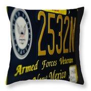 New Mexico Tag Throw Pillow