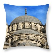 New Mosque Domes In Istanbul Throw Pillow