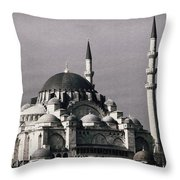 New Mosque Throw Pillow