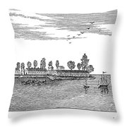 New Orleans, 1719 Throw Pillow
