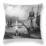 New Orleans, 1847 Throw Pillow