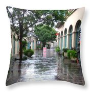 New Orleans After Rain Throw Pillow